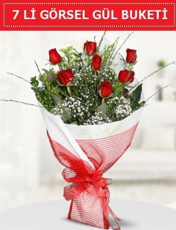 7 adet kırmızı gül buketi Aşk budur  Ordu çiçek gönderme
