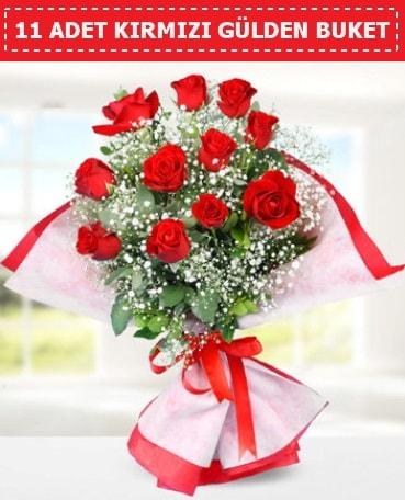 11 Adet Kırmızı Gül Buketi  Ordu internetten çiçek satışı