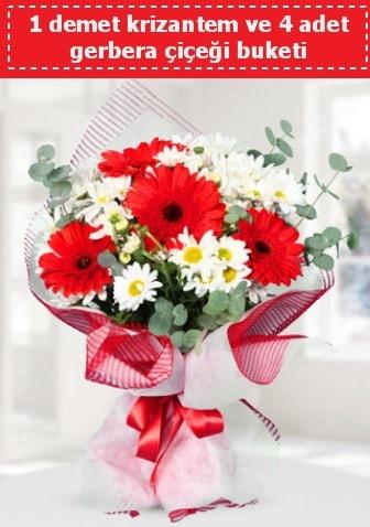 Krizantem ve Gerbera Buketi  Ordu hediye çiçek yolla