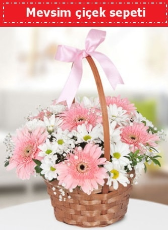 Mevsim kır çiçek sepeti  Ordu çiçekçi telefonları